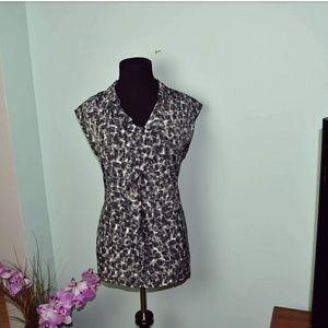 Vera Wang Tops - Vera Wang Snow Leopard Print Blouse