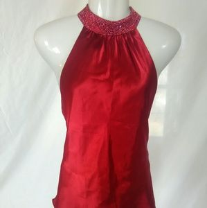 Xscape Tops - Super cute red  dressy top by Xscape