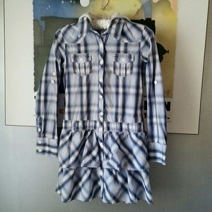 Justice Other - Girls-Hooded Plaid Shirtdress