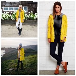 XS outback red yellow jacket belted trench