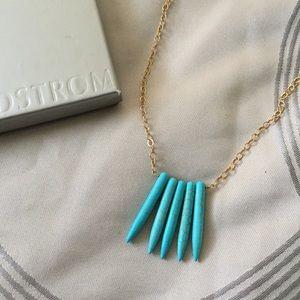 Jessica Elliot Jewelry - Turquoise Howlite Spike Necklace
