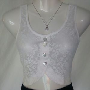 Chloe K Tops - Lace crop top vest by chloe k