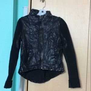 Improvd Leather Jacket converts to Vest. Size XS