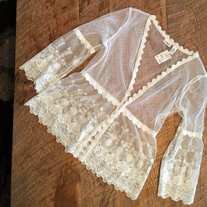 Lace top.  CATO size M.  Gorgeous lace sheer top.