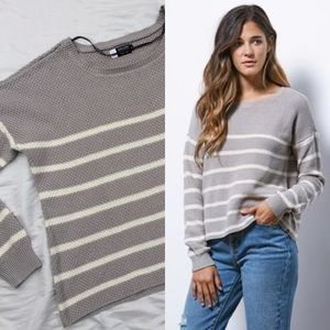Volcom Sweaters - NWT Volcom Fine Lines Grey Knit Pullover Sweater