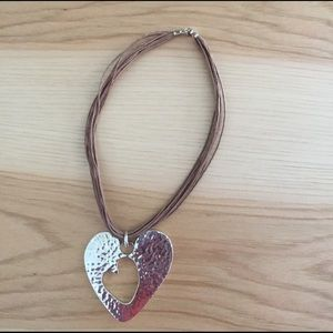 Jewelry - Heart within a heart pure silver Necklace