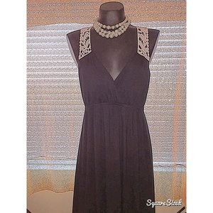Dresses & Skirts - Black maxi dress with lace back detail!!