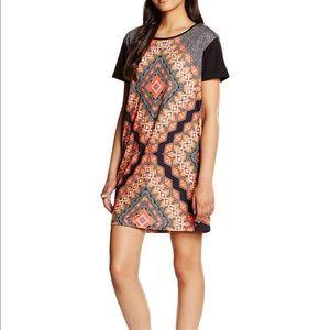 MINKPINK Dresses & Skirts - MINKPINK Orange Black Patterened Soft Dress XS