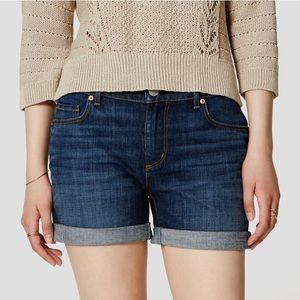 LOFT Pants - LOFT Relaxed Skinny Denim Shorts