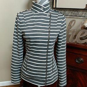 Market & Spruce Tops - CUTE!! Zip up moto style knit jacket