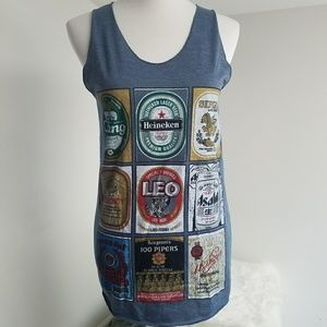 New Music System  Tops - New Music System Beer Graphic Tank Size Medium