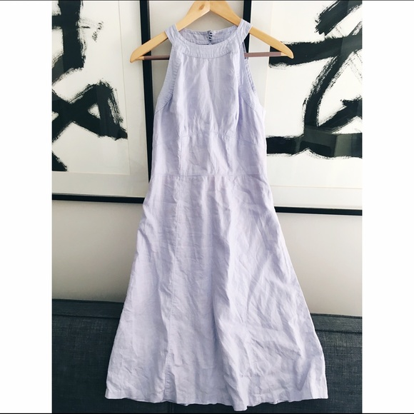 07a1193f8d4 LOFT Dresses   Skirts - LOFT Linen Blue Dress