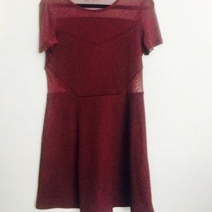 Women's NWOT dress with sheer cut outs