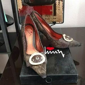 Luichiny Shoes - Luichiny pointy nose horsehair shoes