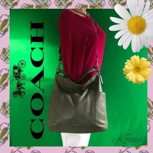  Auth COACH Park Leather Hobo Bag & FREE Wallet