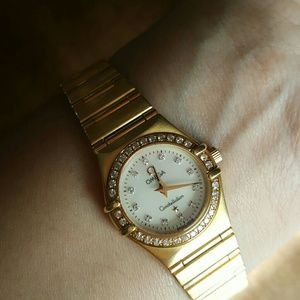Omega Accessories - 18Kt Solid Gold diamond Omega Constellation watch