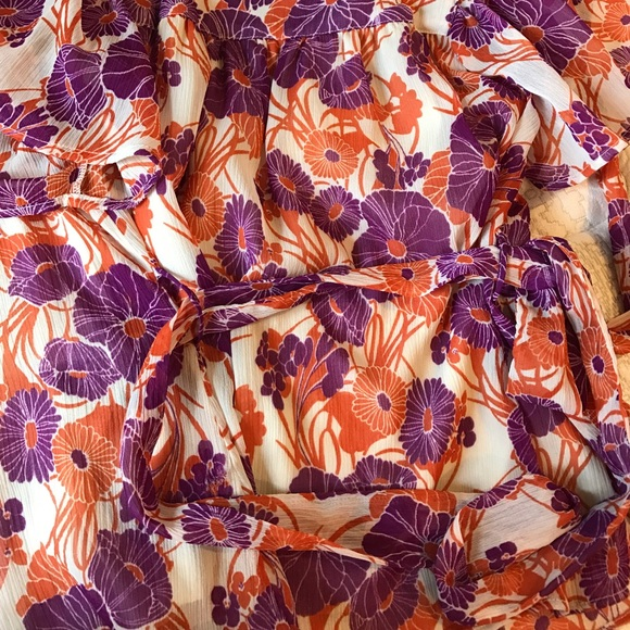 H&M Tops - Orange and purple H&M blouse