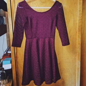 Lush Dresses & Skirts - Lush Lace Burgundy Dress