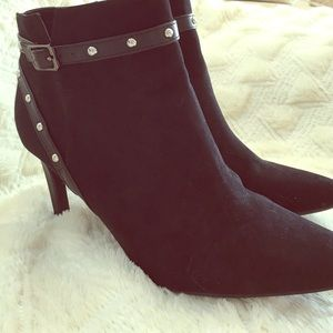 Sam & Libby Shoes - Black Studded Booties