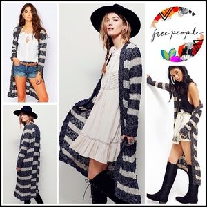 Free People Sweaters - ❗️1-HOUR SALE❗️FREE PEOPLE Long Cardigan Striped