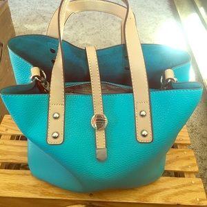 Charming Charlie Handbags - Charming Charlie Wallaby Joey bag - Turquoise.