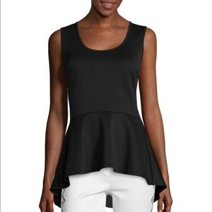 Bisou Bisou Hi-Low Peplum Top
