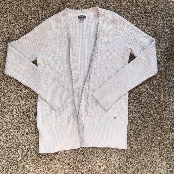 Eddie Bauer Sweaters Shimmery Cable Knit Cardigan Poshmark