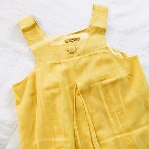 Alice + Olivia Dresses & Skirts - Alice + Olivia silk cotton babydoll yellow dress