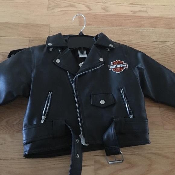 Biker Kids Boys Black Leather Motorcycle Vest Childs XL 10-12