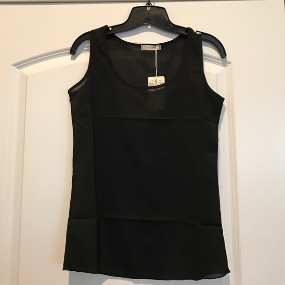 liva girl Tops - Sheer black tank top