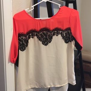 Beautiful Sheer Lace Detailed Blouse