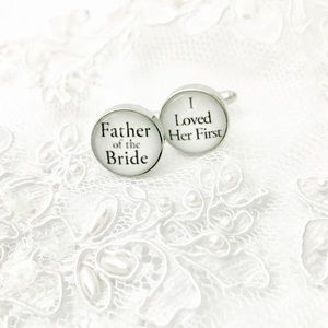 Other - Fatherof the bride cufflink,men cuff link,cufflink