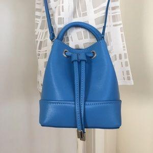 Zara Handbags - Zara Blue Mini Bucket Crossbody Bag