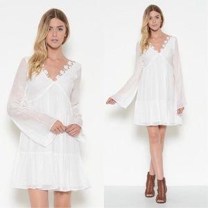 New White Boho Dress