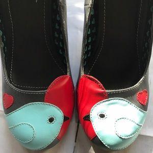 T.U.K. Love bird heels 