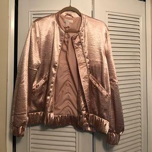 H&M Rose gold BNWOT bomber jacket!