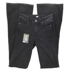 Paige Jeans Denim - Paige High Rise Bell Canyon Black Jeans