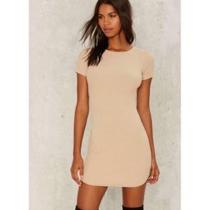 NWT Nasty Gal That's What You Rib Mini Dress