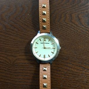 Saks Fifth Avenue Jewelry - Saks Fifth Avenue Leather Watch