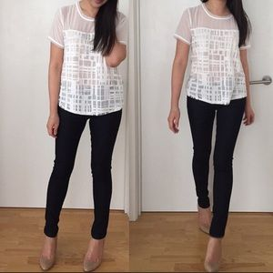 Forever 21 Tops - Forever 21 Abstract Grid-Patterned Top