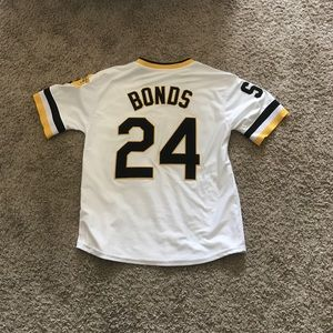 check out 7ffd8 4380f 1986 Barry Bonds Pittsburgh Pirates jersey *RARE*