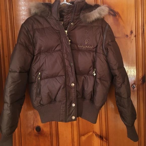 Baby Phat Jackets   Blazers - Baby PHat goose down puffer jacket medium  brown 05d8202b0
