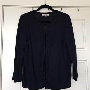 Loft navy blue cardigan, size XL.