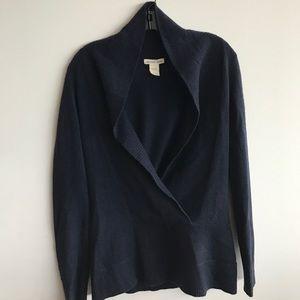 Minnie Rose Scoop Neck Navy Cashmere Sweater