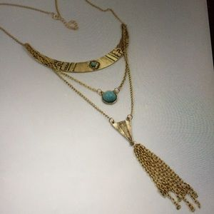 GOLDEN TURQUOISE NECKLACE