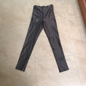 Silver disco pants American apparel