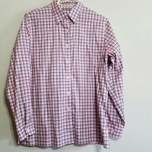 Foxcroft Tops - Foxcroft wrinkle free plaid Oxford button up.