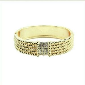 T&J Designs Jewelry - Jewelry | Textured 18K White Gold Bangle Bracelet