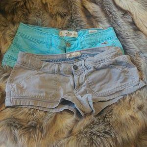 Bundle of 2 Hollister shorts.