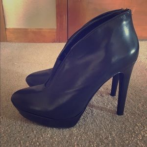 Shoes - Jessica Simpson Leather Platform Booties